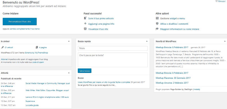Bacheca-3 Usare Wordpress per creare un sito