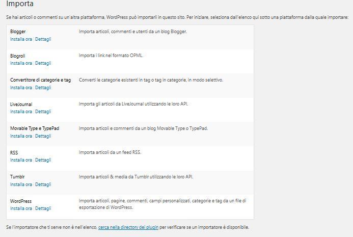 Inporta Usare Wordpress per creare un sito