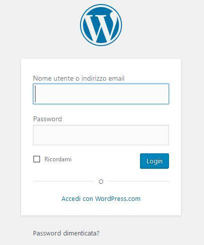 Login-1 Usare Wordpress per creare un sito