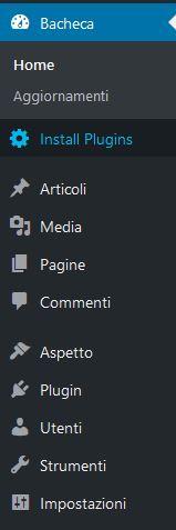 Pannello-amministrazione Usare Wordpress per creare un sito