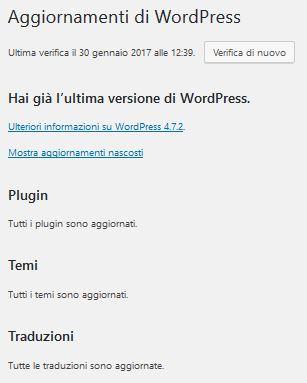 aggiornamenti-2 Usare Wordpress per creare un sito