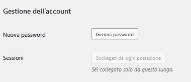 password Usare Wordpress per creare un sito
