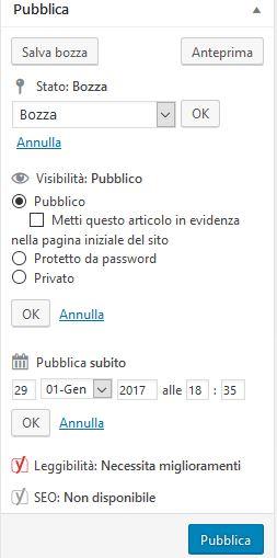 pubblica Usare Wordpress per creare un sito