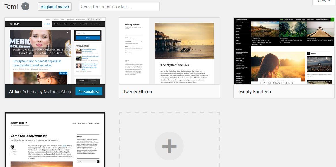 temi Usare Wordpress per creare un sito