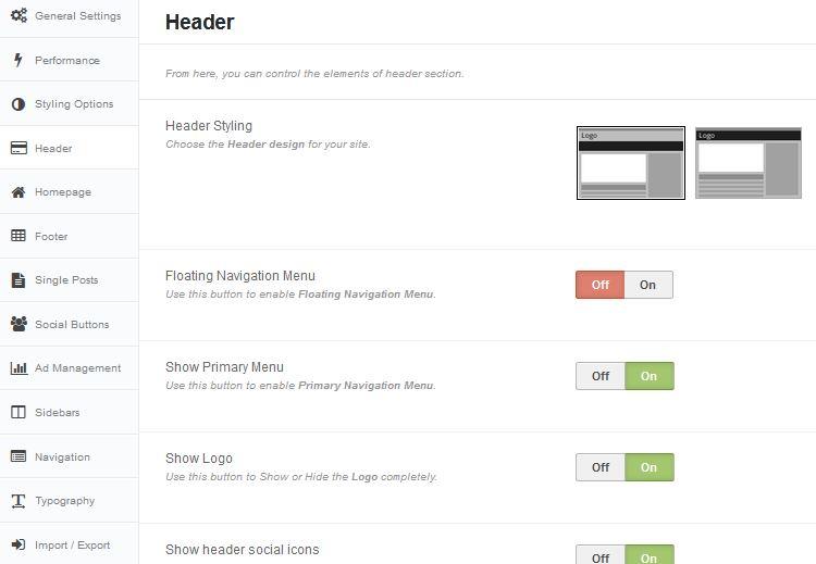 themes-option Usare Wordpress per creare un sito
